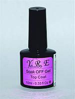 Финишное покрытие для гель-лака YRE ТСТ-00, гель с кисточкой финиш UV-TOP COAT 10мл