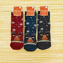 Шкарпетки жіночі махрові новорічні високі Добра Пара 23-25р олень асорті 20038984