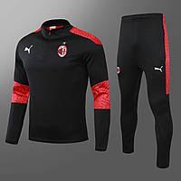 Тренировочный костюм Милан/Milan( Италия, Серия А ), черный, сезон 2020-2021
