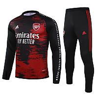 Детский тренировочный костюм Арсенал/Arsenal ( Англия, Премьер Лига ), черный, сезон 2020-2021