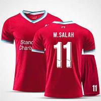 Детская футбольная форма Ливерпуль M. SALAH 11 домашняя сезон 2020-2021