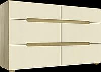 Комод Інтарсіо Fusion F 6Ш 1420х840 мм Дуб скельний + Слонова кістка (FUSION_F), фото 1