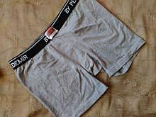Мужские трусы серые - размер XL (в талии до 92см, окружность ноги вверху до 52см), длина 31см