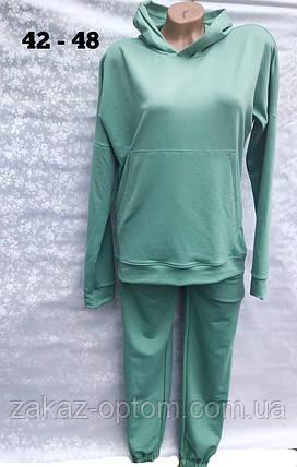 Спортивный костюм женский Норма оптом (42-48) Украина-65774, фото 2