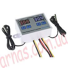 Цифровой контроллер температуры XK-W1088 двойной DC12V 120W