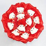 Букет из игрушек Мишки 11 красный 5281IT, фото 2