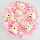 Букет из игрушек Мишки 5 розовый 5288IT, фото 2