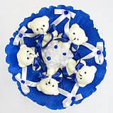 Букет из игрушек Мишки 5 синий 5290IT, фото 2