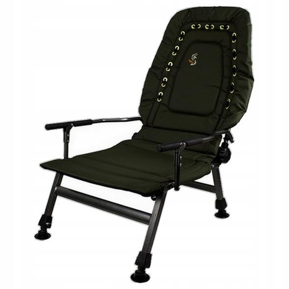 Кресло карповое рыбацкое с регулируемой спинкой M-Elektrostatyk FK2