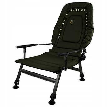 Кресло карповое рыбацкое с регулируемой спинкой M-Elektrostatyk FK2, фото 2