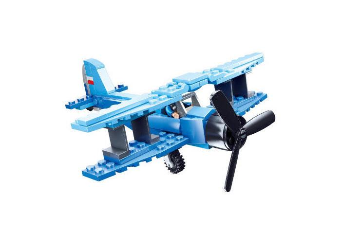 Конструктор типа лего Вертолет SLUBAN M38-B0666, 101 деталей (Кукурузник)