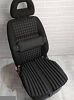 Ортопедические подушки - накидки на авто кресло EKKOSEAT с поясничным упором спины. Черные. Универсальные.