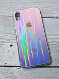 Скляний силіконовий чохол Iphone X XS з переливом протиударний відеоогляд, фото 4