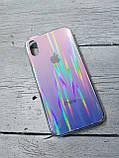Скляний силіконовий чохол Iphone X XS з переливом протиударний відеоогляд, фото 2