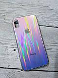 Скляний силіконовий чохол Iphone X XS з переливом протиударний відеоогляд, фото 5
