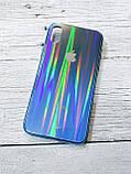 Скляний силіконовий чохол Iphone X XS з переливом протиударний відеоогляд, фото 3