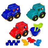 """Детский сортер-трактор """"Кузнечик"""" №3  C0343 с набором для песочницы, фото 4"""