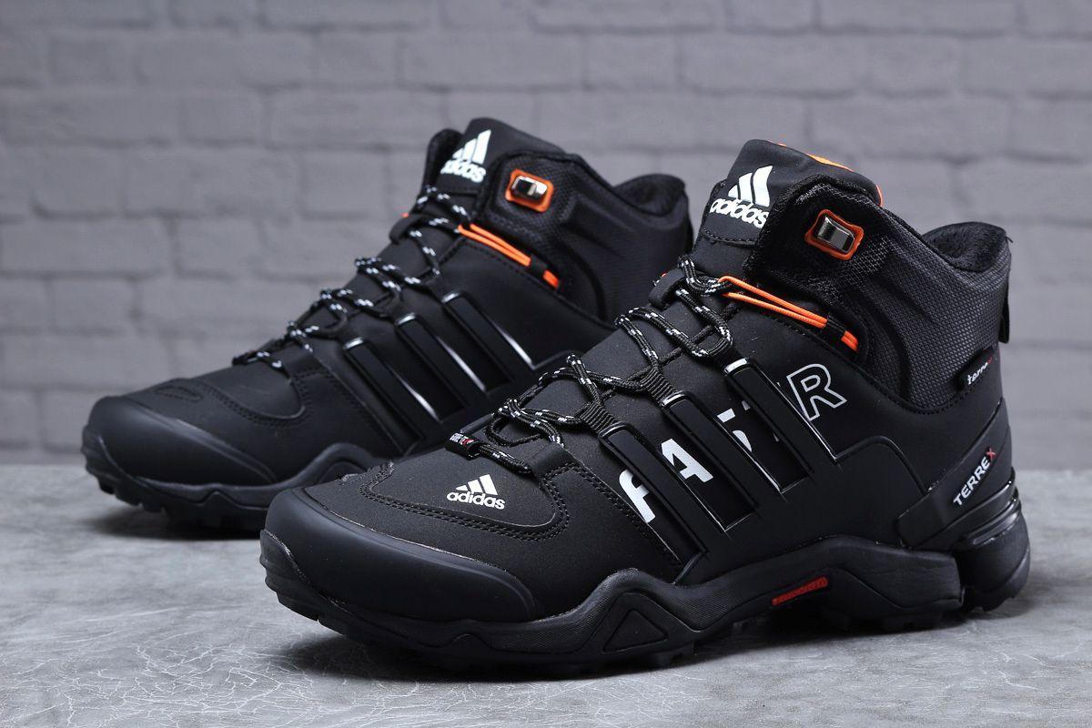 Зимові чоловічі кросівки 31784, Adidas Terrex Gore Tex, чорні, [ немає ] р. 41-26,5 див.