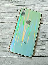 Чехол на Iphone X XS силиконовый стеклянный с переливом противоударный видеообзор