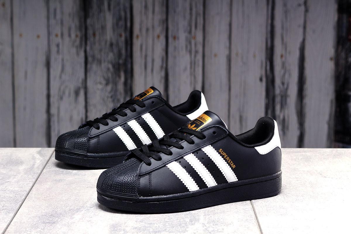 Кроссовки женские 17822, Adidas Superstar, черные, [ 36 38 39 41 ] р. 36-23,0см.