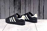 Кроссовки женские 17822, Adidas Superstar, черные, [ 36 38 39 41 ] р. 36-23,0см., фото 3