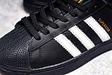 Кроссовки женские 17822, Adidas Superstar, черные, [ 36 38 39 41 ] р. 36-23,0см., фото 6