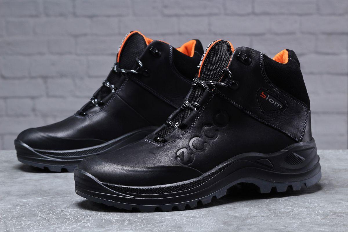 Зимние мужские ботинки 31821, Ecco Biom, черные, [ 40 ] р. 40-26,8см.