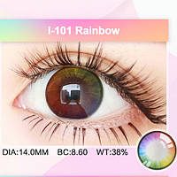 Цветные радужные контактные линзы RAINBOW