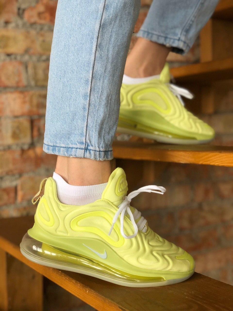 Жіночі кросівки Nike Air Max 720 (Yellow) Репліка ААА