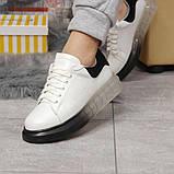 Кросівки жіночі 17161, MkQueen, білі, [ 36 37 38 39 40 ] р. 36-23,5 див., фото 3