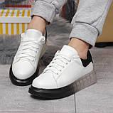 Кросівки жіночі 17161, MkQueen, білі, [ 36 37 38 39 40 ] р. 36-23,5 див., фото 4