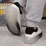 Кросівки жіночі 17161, MkQueen, білі, [ 36 37 38 39 40 ] р. 36-23,5 див., фото 6