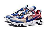 Кросівки чоловічі 15393, Nike React, сині, [ 42 44 ] р. 42-27,0 див., фото 7