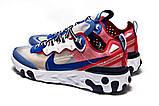Кросівки чоловічі 15393, Nike React, сині, [ 42 44 ] р. 42-27,0 див., фото 8
