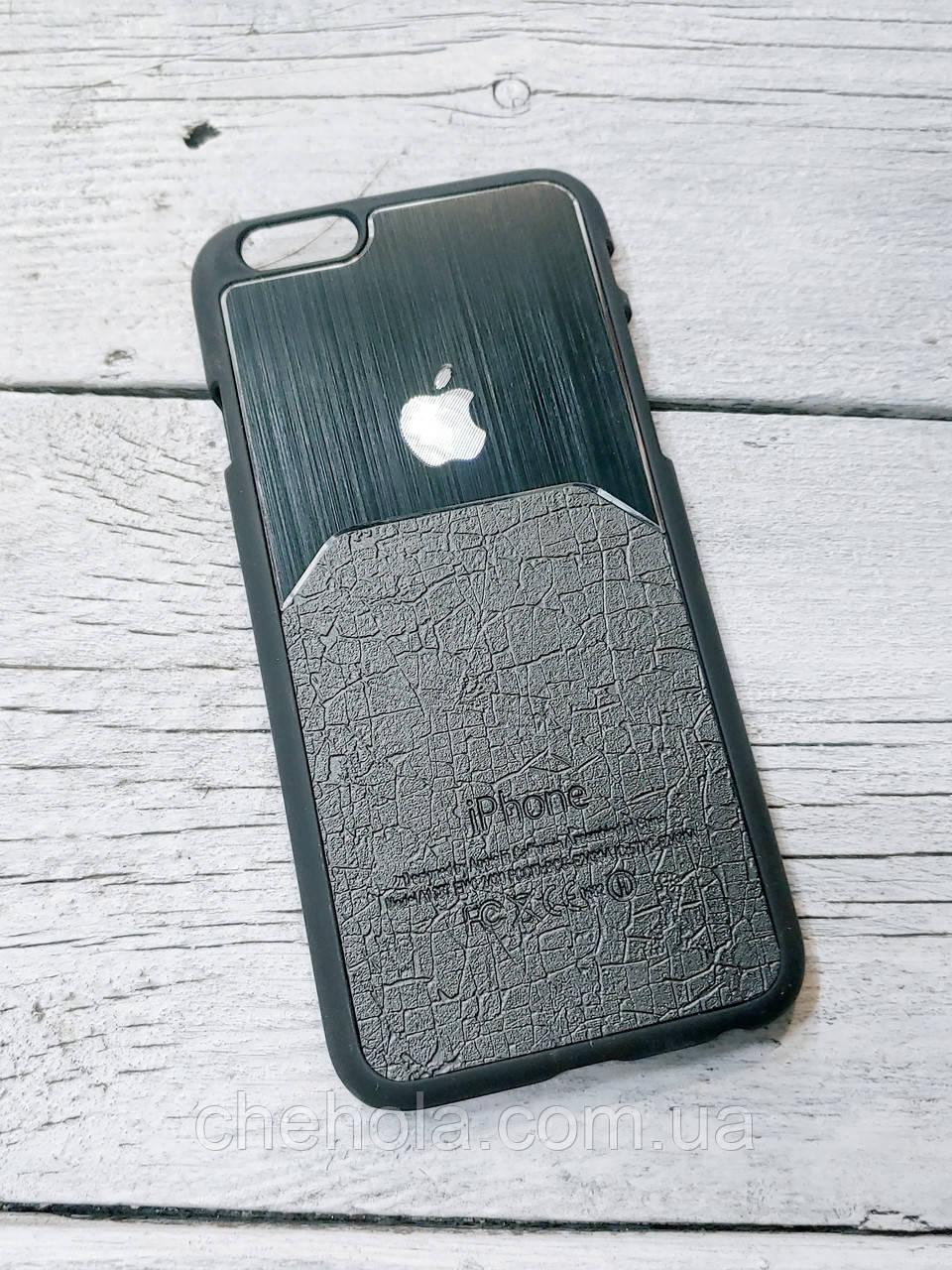 Металевий чохол iphone 6 6s прорезинений