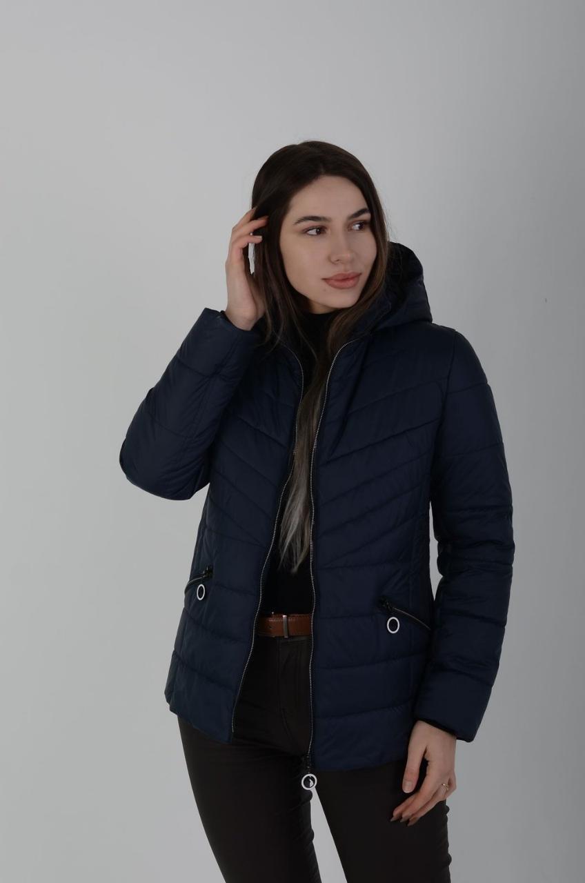 Демисезонная женская куртка синяя
