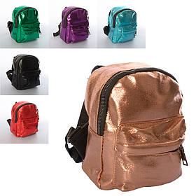 Рюкзак 8889-1  21-16-8см, застежка-молния,1отд,1внутр/1наруж.кармана, микс цветов, в кульке,