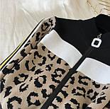 Жіночий прогулянковий в'язаний костюм двійка з леопардовим принтом р-р 42-44, фото 6