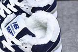Зимові жіночі кросівки 31355, New Balance 574 (хутро), темно-сині, [ 38 ] р. 38-24,0 див., фото 5
