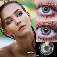 Цветные контактные линзы Зеленые