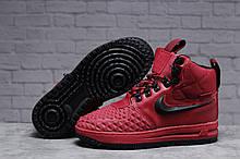 Зимние женские кроссовки 31462, Nike Air AF1 (мех), розовые [ нет в наличии ] р.(40-25,5см)