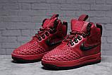 Зимние женские кроссовки 31462, Nike Air AF1 (мех), розовые [ нет в наличии ] р.(40-25,5см), фото 2
