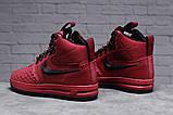 Зимние женские кроссовки 31462, Nike Air AF1 (мех), розовые [ нет в наличии ] р.(40-25,5см), фото 3