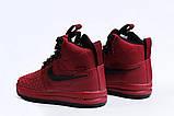 Зимние женские кроссовки 31462, Nike Air AF1 (мех), розовые [ нет в наличии ] р.(40-25,5см), фото 8