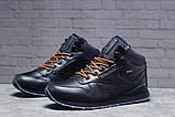 Зимние мужские кроссовки 31481, Reebok Classic (мех), темно-синие [ 42 45 ] р.(42-27,5см), фото 2