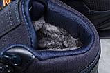 Зимние мужские кроссовки 31481, Reebok Classic (мех), темно-синие [ 42 45 ] р.(42-27,5см), фото 6