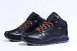 Зимние мужские кроссовки 31481, Reebok Classic (мех), темно-синие [ 42 45 ] р.(42-27,5см), фото 7