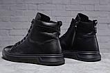 Зимові чоловічі черевики 31511, Philipp Plein (хутро), чорні, [ ] р. 40-26,5 див., фото 3