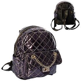 Рюкзак 801  26-21-9см, застежка-молния,1отд,2внутр/4наруж.кармана, микс цветов, в кульке,