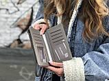 Женская маленькая сумкочка с ремешком, серая, фото 3